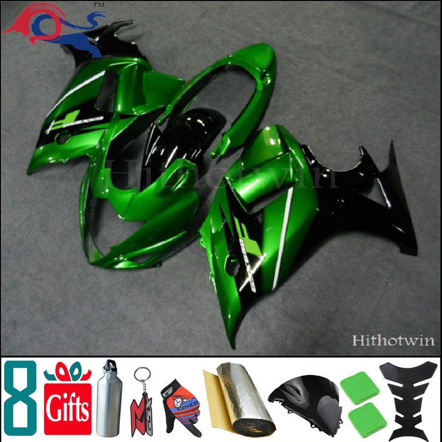 Drop-shinpping 8Gifts+ GSX650F 2008 2009 2010 2011 for Suzuki green motorcycle Fairing