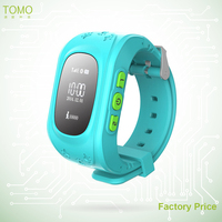 0.96'' OLED Screen SOS Button 2 Way Communicate GOE Fence Alarm Kids GPS Watch Q50