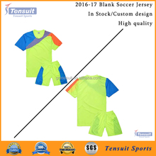 cheap plain uniforms good quality sublimation print football jersey tops and shorts dri fit wholesale soccer jersey set