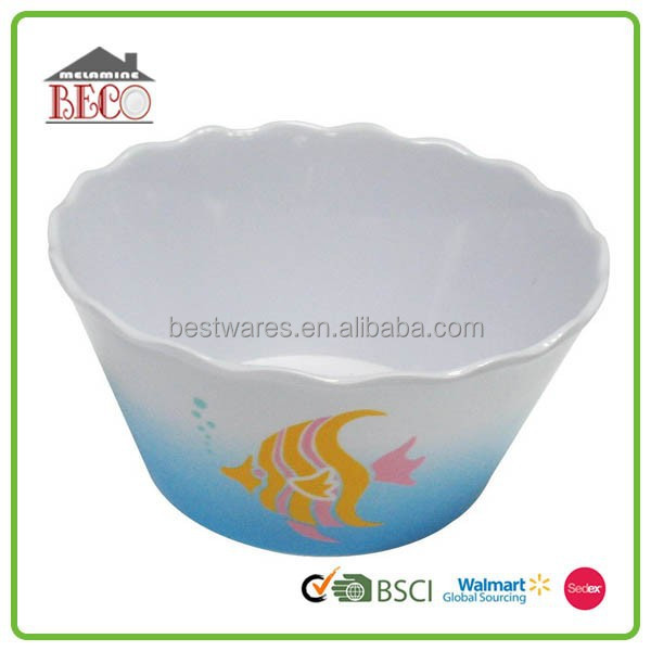 New design delicate eco friendly melamine dinnerware oval bowls