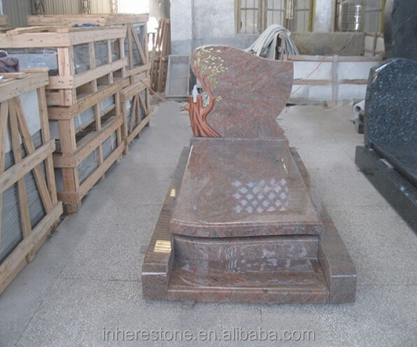 red granite rose tombstone factory price