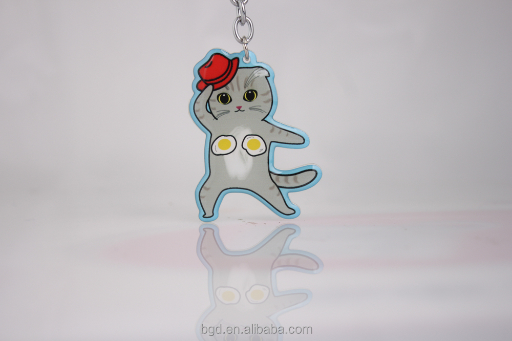 VOGRACE Wholesale Custom Acrylic Keychain with cartoon