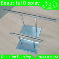 Chrome Finish Metal Signboard Stand Acrylic Holder