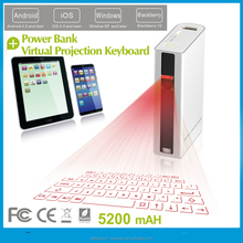 virtual laser keyboard projection keyboard power bank for ipad,iphone, tablet pc, smart phone with blue tooth speaker