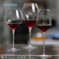 SANZO cheap wholesale speckle martini wine glasses with short stem