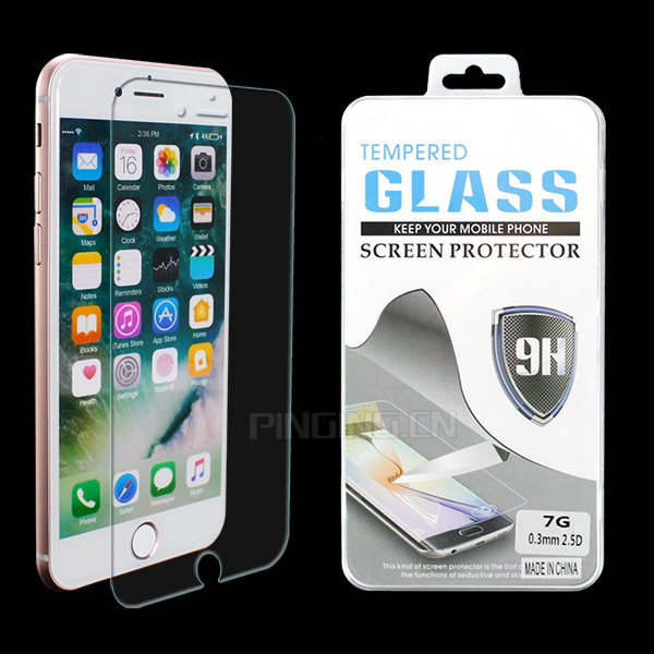 Newest factory price mobile phone accessories tempered glass for iphone 7 screen protector