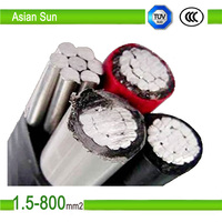 overhead aluminum cable insulated abc cable 33kv abc aerial bundle cable