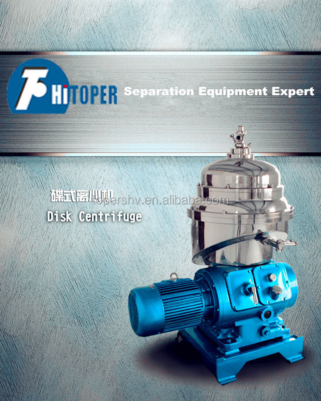 Lube, fuel, diesel oil clarifying disc centrifuge separater