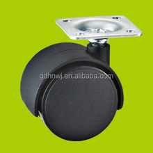 1.5 inch cabinet caster wheel, Swivel plate nylon furniture casters