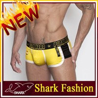 Shark Fashion elastane underwear for man sport boxer undergarment shorts
