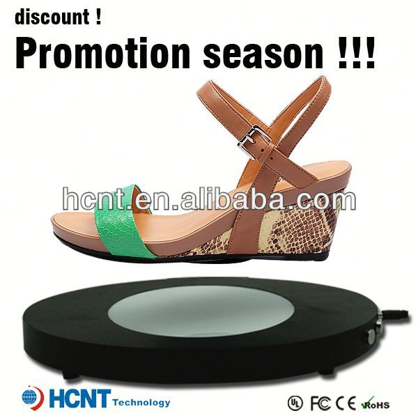 new invention ! magnetic levitating led display stand for shoe woman,bottle holder wholesale shoe