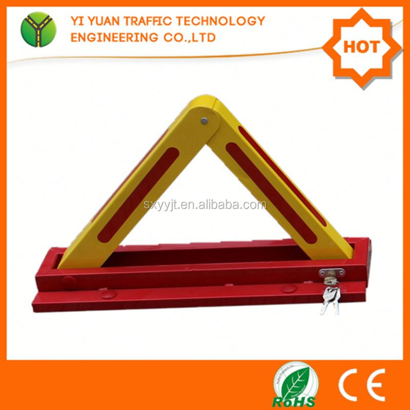 Manual Park Lock Anti-Theft Parking Space Protector , Car Parking Equipment , K Shape Manual Parking Barrier