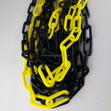 UV protected plastic chain safety barrier coloured chain