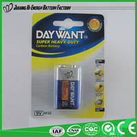 Top Quality Wholesale Dry Cell Power Battery 9V 6F22