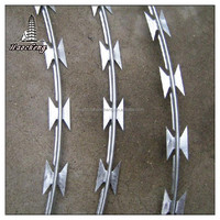 Galvanized steel razor barbed wire fencing low price