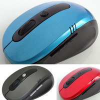 Hot Optical Wireless 2.4 GHZ Laptop PC Computer Netbook Mouse 6 Keys 1600 dpi High Quality Wheel Mouse Blue