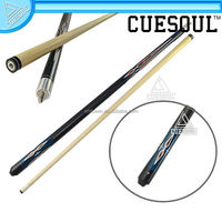 CUESOUL Cheap Blue Paint Diamond Ash Aluminum Alloy Joint Pool Cue Billiard Sticks