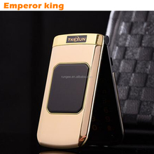 TKEXUN M3 2.4 Inch Touch Screen Luxury Women Flip Phone With Double Dual Screen Dual Sim Camera MP3 MP4 Cell Phone