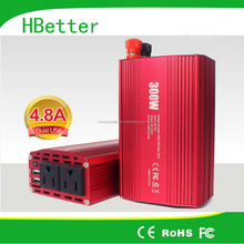 300W Power Inverter with Dual Outlets & Dual 2.4A USB Ports for Laptop, Tablet, Smartphone and more
