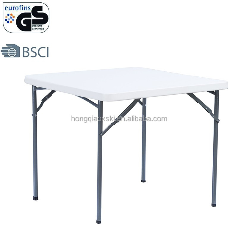 2.8ft white portable durable outdoor folding square mahjong table coffee table