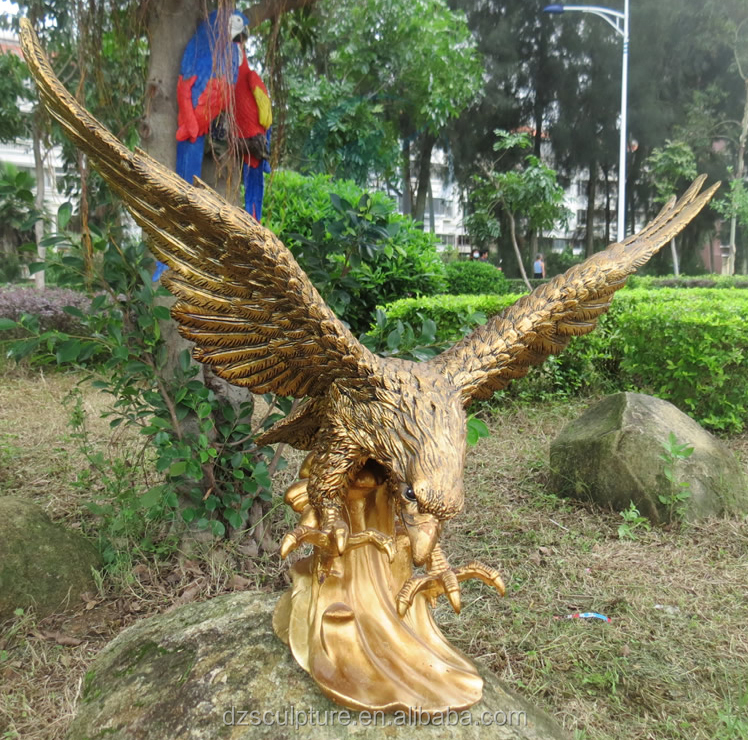 Promote product life size bronze outdoor eagle statues