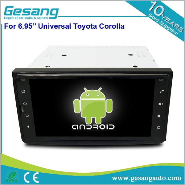 2 din car head unit android 6.0 full touch screen 6.95 inch universal Car dvd <strong>player</strong> for Toyota Corolla