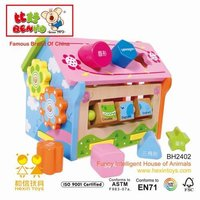 Shape Sorter House Mini Wooden House Toy
