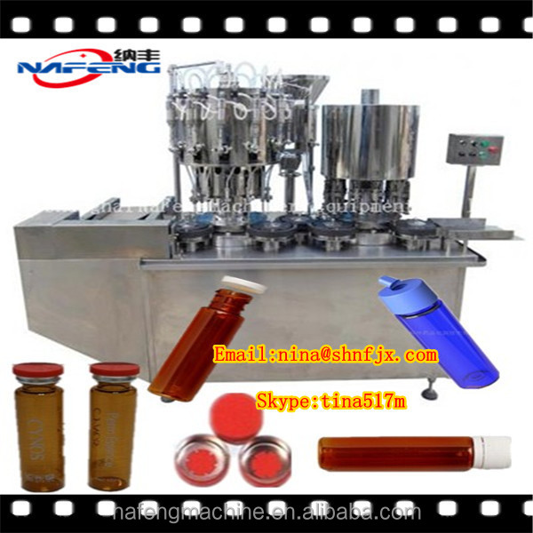 NFDGK-10/20 Automatic 10ml Bottle Organic Syrup Liquid Filling Capping Machine