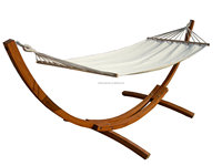outdoor clear strong wood hammock with stand