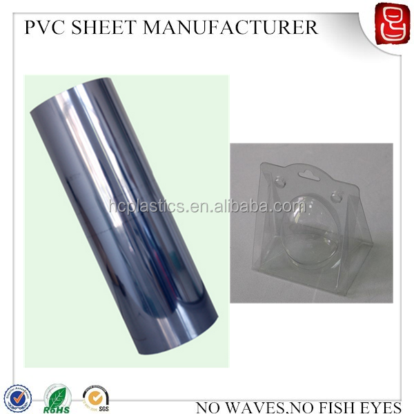 250 micron clear rigid pvc film for vacuum forming