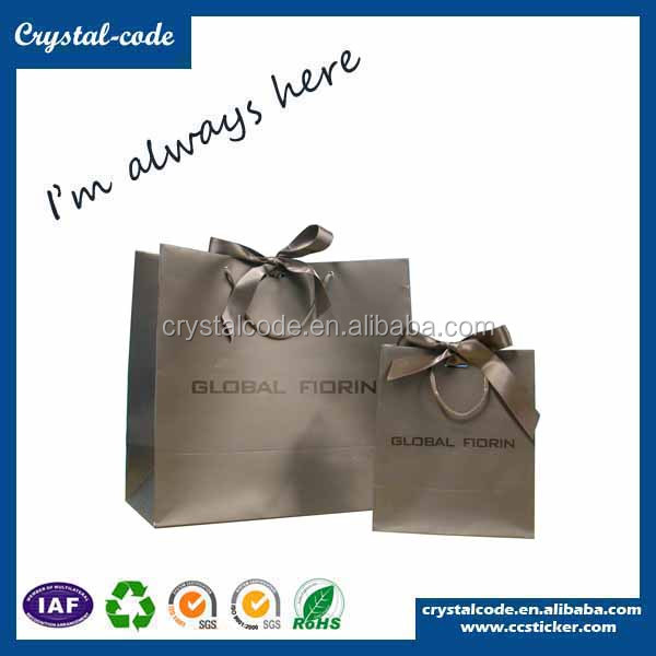 Low price reuseable transparent paper shopping bag