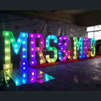 Synchronised Flashing Light Up Letters With