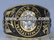 Brass Masonic Ring - Birthstones