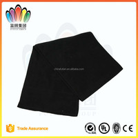 FT FASHION Winter Men's Polyester Plain Scarf,Warm Black Scarf