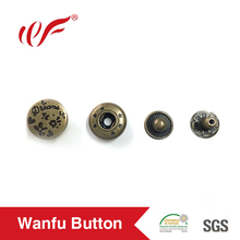 Cheap price promotion four parts snap button with custom logo