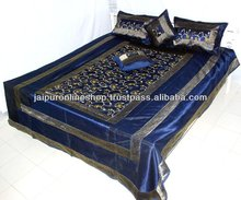 Embroidered Brocade Silk Bedspread