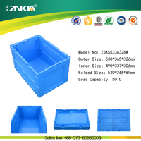 clothing used Wholesale 100% Virgin PP Transportion and Storage Plastic Folding Crate