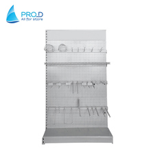 Chinese Supplier Display Shelf With Black Pegboard Plate For Hook