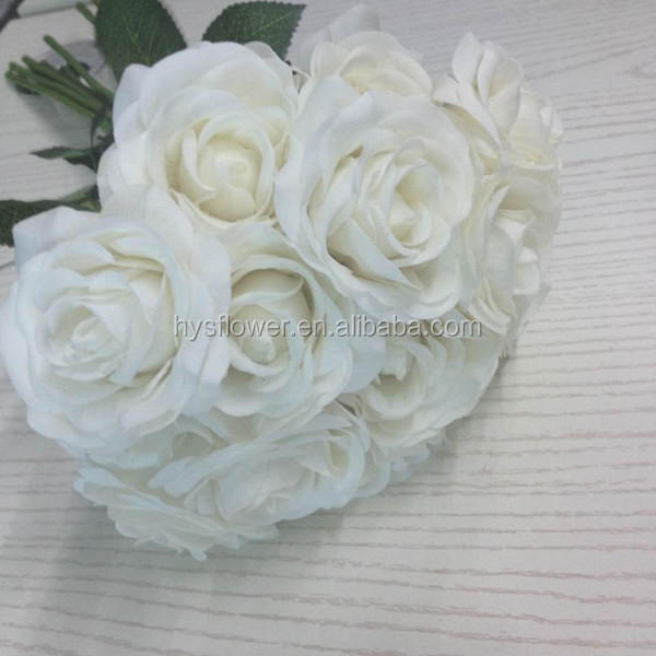 white/pure white rose artificial small roses real touch wedding roses