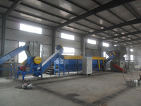 waste agricultural film plastic recycling washing plant