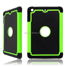 Rugged triple layers shockproof defender cover for iPad mini/mini 2