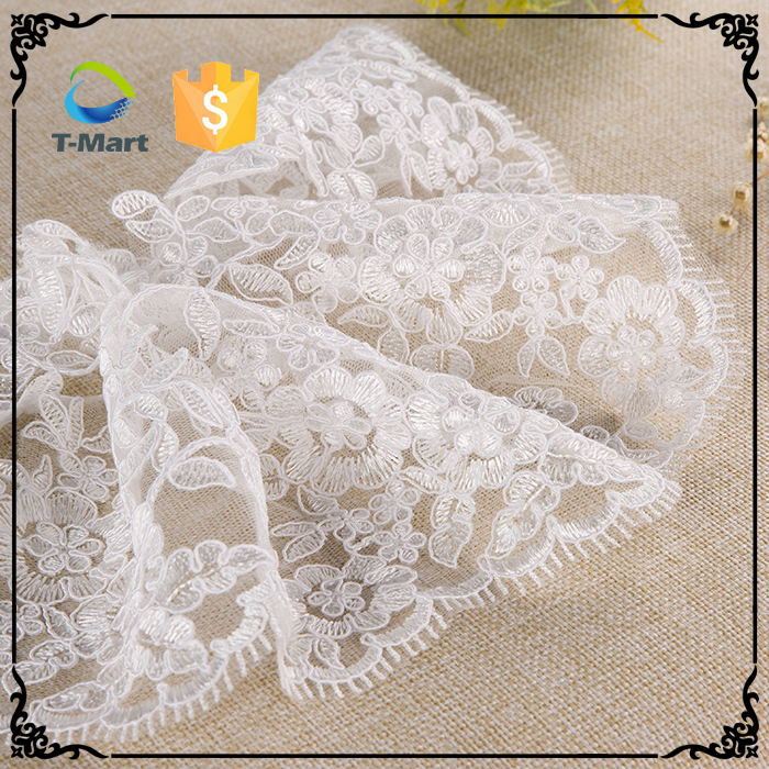 new 2016 lace fabric embroidery indian bridal lace fabric