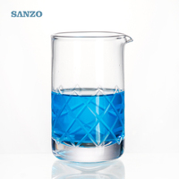 Engraved hot selling customized soda-lime glass cocktail mixing glass 700006
