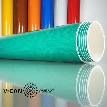 Green High Intensity Micro Glass Bead Reflective Sheeting, Acrylic Face Film, ASTM D4956 Type III RS-HI9300GR