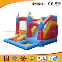 Cheap And Hot Sale 4 in1 Play Center/Newest Inflatable Jumping Bouncy Castle With Slide/Commercial Use Jumping Castle With Slide