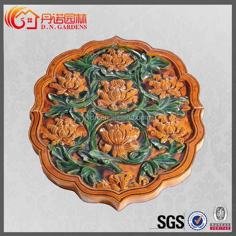 Handmade And Beautiful Figures With Tiles chinese dragon finials China Buddhist temple roof supplies
