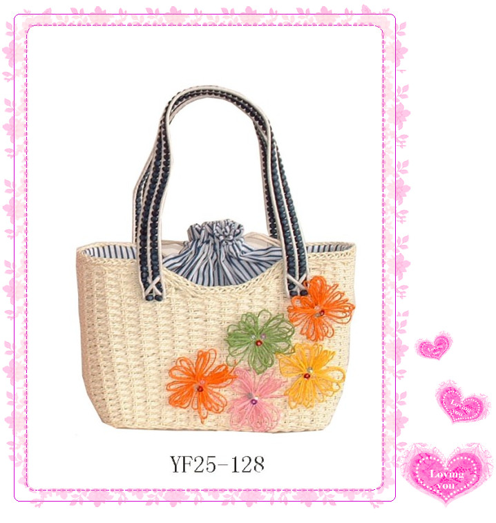 new design hot sell cute paper straw bag