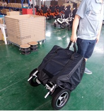 light wheelchair with pressure relieving cushion ,gear motor and carry bag