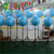 Lovely Exhibition Stand 3D Tripod Inflatable Light Fish Balloon Display Model