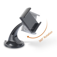 "360 Degree Rotating Windshield Universal Car Smart Phone Mount for iPhone4/4s/5/5s/5c/6/6plus,Samsung Phone and 7"" Tablet PC"